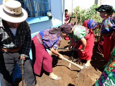 Community support for vegetable gardens for Elders